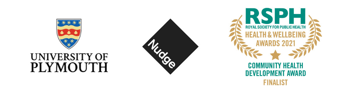 University of Plymouth and Nudge logos