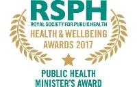 Public Health Minister's Award 2017 winner logo