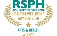 Arts & Health Award 2016 winner logo
