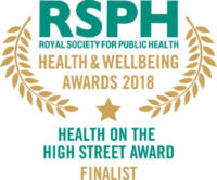 Health on the High Street Award 2018 finalist