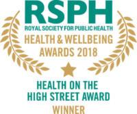 Health on the High Street Award 2018 winner