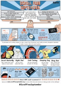 Scroll Free September infographic