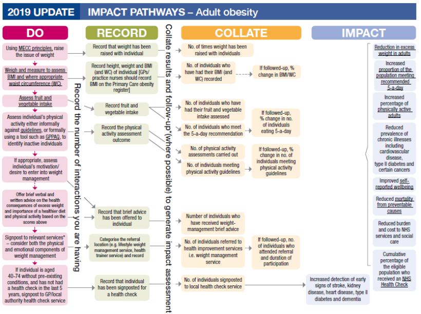 Impact pathways adult obesity